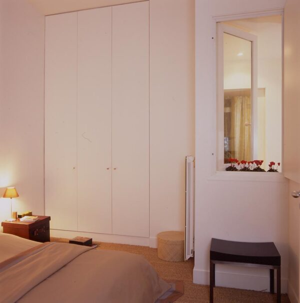 Amsterdam paris rénovation appartement chambre placard rangement dressing sur mesure