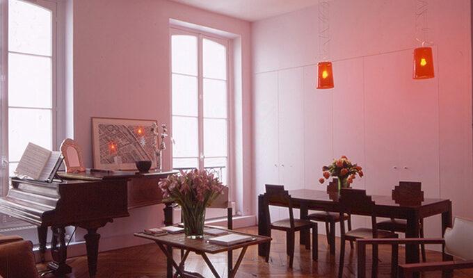 Atelier Sylvie Cahen Architecte Intérieur Paris 12 éme Strasbourg Paris salon salle à manger placards sur mesure